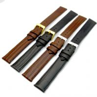 Extra Long XL Leather Watch Strap Lizard Grain 16mm 18mm 20mm D017